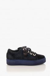 Сини дамски спортни обувки с връзки Дейзи