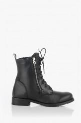 Черни дамски кожени обувки тип кубинка Ливия