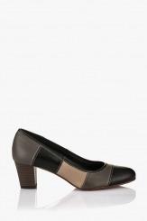 Кожена дамска обувка Пеги черна