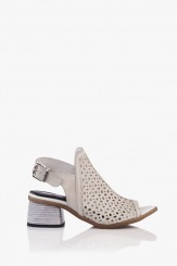 Дамски кожени сандали с перфорация Мелиса