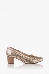 Дамски обувки на ток с перфорация Иви