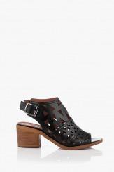 Черни дамски кожени сандали Бенигна