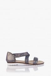 Светло сини дамски сандали с аксесоари Флор