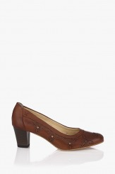 Дамски кожени обувки Пеги