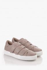 Дамски спортни обувки в сиво