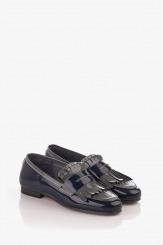 Ежедневни дамски обувки тъмно син лак