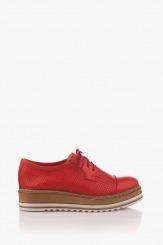 Дамски обувки в червена кожа Хариет