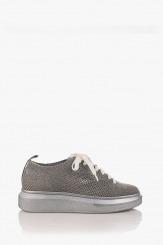 Спортни дамски обувки в сребристо Луиса