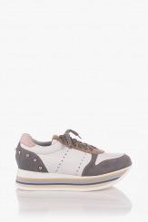 Дамски спортни обувки велур и кожа Пейтън