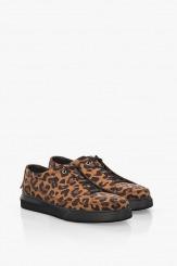 Дамски спортни обувки с леопардов принт