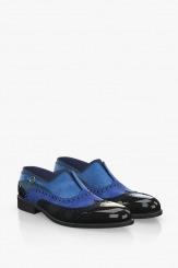 Елегантни мъжки обувки в цветова комбинация