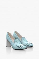 Дамски обувки на ток в синьо