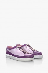 Дамски спортни кожени обувки в лилаво