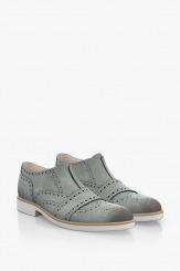 Мъжки велурени обувки в сиво