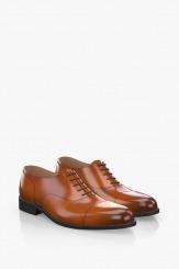 Кожени мъжки обувки цвят карамел