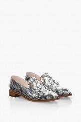 Класически дамски обувки в сиво