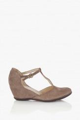Бежови дамски сандали Виена