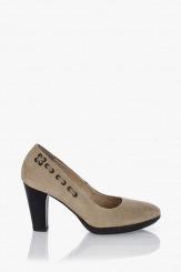 Бежова обувка велур Прайс