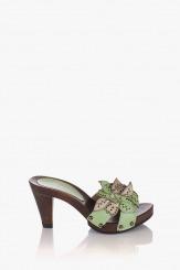 Зелени дамски сандали Каръл