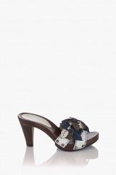 Сини дамски сандали Каръл