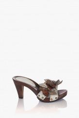 Бели дамски сандали Каръл