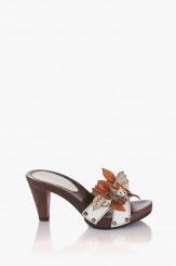 Оранжеви дамски сандали Каръл