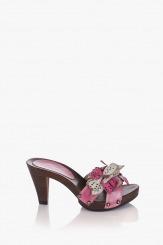 Розови дамски сандали Каръл