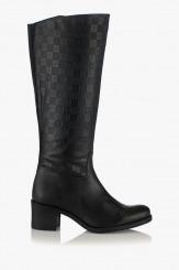 Дамски ботуши в черно Сиенна с щампа