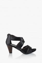 Черни дамски сандали Тейли