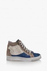 Дамски спортни обувки Мабел син велур