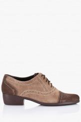 Велурена обувка Зое