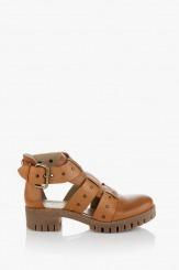 Дамски летни сандали Сесили карамел