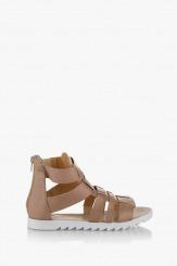 Дамски сандали цвят таупе Римини
