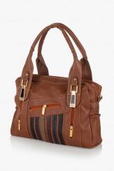 Дамска чанта Деби карамел