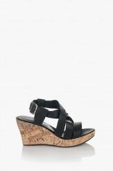 Дамски сандали с платформа Харпър в черно