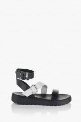 Дамски сандали Катерини бяло и черно