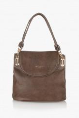 Дамска чанта цвят таупе Грейси