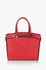 Коралова дамска чанта Слим