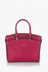 Цикламена дамска чанта Слим