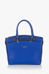 Синя дамска чанта Слим