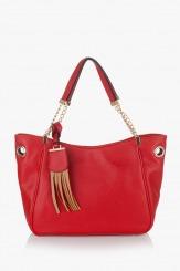 Червена дамска чанта Лола