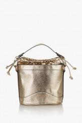 Златиста дамска чанта Дорис