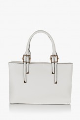 Бяла дамска чанта Кейли