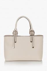 Бежова дамска чанта Кейли