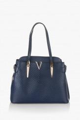 Тъмно синя дамска чанта Кори