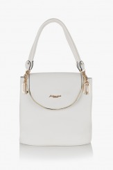 Бяла дамска чанта  Грейси