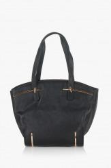 Черна дамска чанта Кори