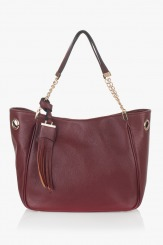 Дамска чанта Лола цвят марсала