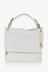Дамска чанта Ким в бяло