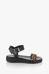 Дамски черни сандали Катерини
